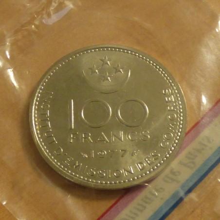 Comores 100 francs 1977 Essai in original seal