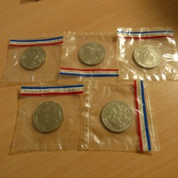5 coins BEAC 500 francs...