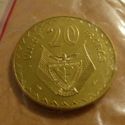 Rwanda 20 francs 1977 ESSAI...