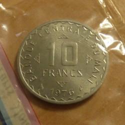 Mali 10 francs 1976 Essai...