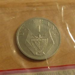 Rwanda 1 franc 1977 ESSAI...