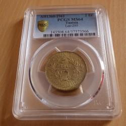 Tunisia 2 francs 1941...