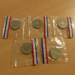 5 coins BEAC 50 francs 1976...