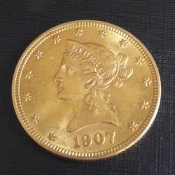 US 10$ 1907 Liberty Head...
