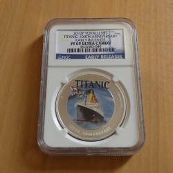 Tuvalu 1$ 2012 Titanic NGC...