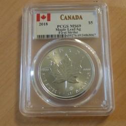 Canada Maple Leaf 2018 MS69...