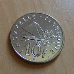 New Caledonia 10 francs...