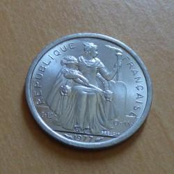 French Polynesia 1 franc...