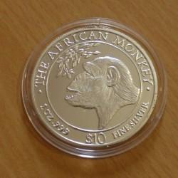 Somalia 10$ African Monkey...