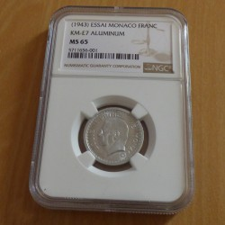 MONACO 1 franc ESSAI 1943...