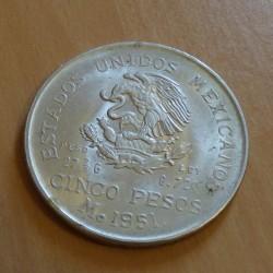 Mexico 5 Pesos 1951 EF/VZ...