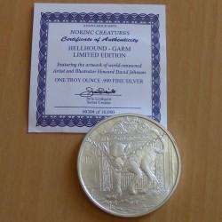 Round Hellhound-Garm silver...