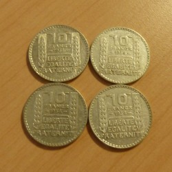 Lot of 4 coins France 10...