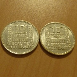 Lot of 2 coins France 10...
