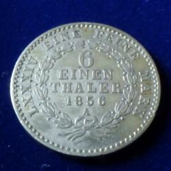 Germany 1/6 Thaler 1856-A...
