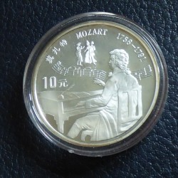 China 10 yuans Mozart 1991...