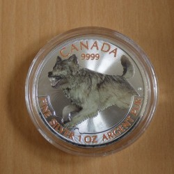 Canada 5$ Wolf 2018 colored...