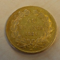 France 40 francs 1831A gold...