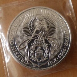 UK 5£ 2017 Griffin silver...