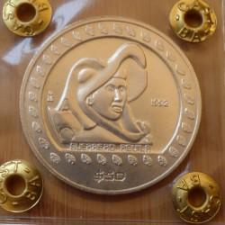 Mexico 50 peso 1992 silver...