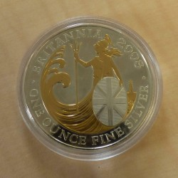 UK 2£ Britannia 2008 gilded...