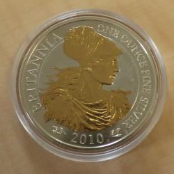 UK 2£ Britannia 2010 gilded...