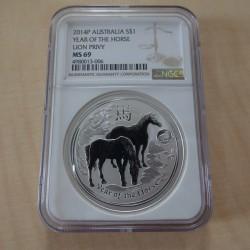 Australia 1$ Lunar 2 Year...