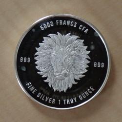 Tchad 5000 CFA Mandala Lion...