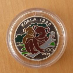 Korea 100 Won 1996 Koala...