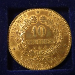 France 10 cents 1898 Bronze...