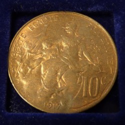 France 10 cens 1920 Bronze...
