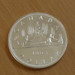 Canada Dollar 1965 silver...