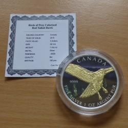 Canada 5$ Birds of Prey Red...