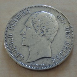 Belgium 5 francs 1850...