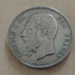 Belgium 5 francs 1870...