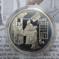 China 5 yuans Zero 1993...