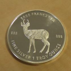 Tchad 5000 CFA Mandala...