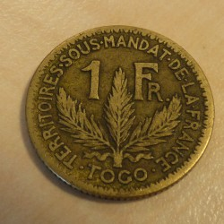 Togo 1 franc 1924 F / s