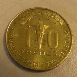 Togo 10 francs 1957 FSTGL / MS
