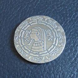 Round Pharaoh 1/2 oz silver...