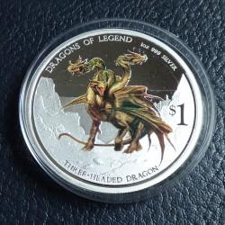 Tuvalu 1$ 2013 Dragon...