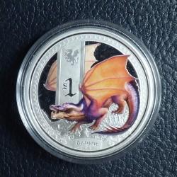 Tuvalu 1$ 2014 Dragon...
