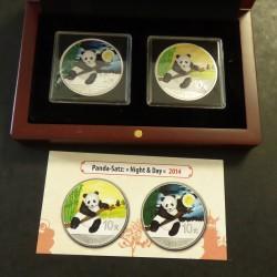 2* China 10 yuans Panda...