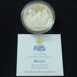 "Belize 5$ 1997 ""Golden..."
