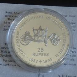 Seychelles 25 rupees 1993...