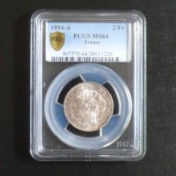 France 2 Francs Cérès 1894A...