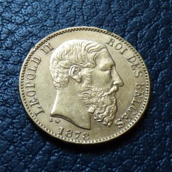 Belgium 20 francs 1878...