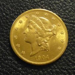 US 20$ 1904 Liberty Head...