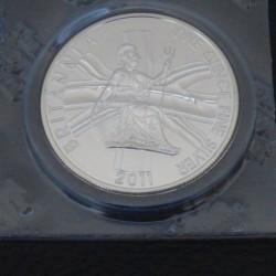 UK 2£ Britannia 2011 silver...