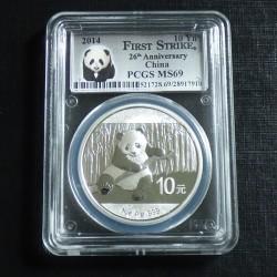 China 10 yuans Panda 2014...